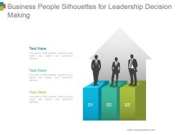 Business People Silhouettes For Leadership Decision Making Powerpoint Slide Template