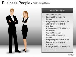 Business People Silhouettes Powerpoint Presentation Slides DB
