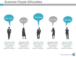 Business People Silhouettes Powerpoint Presentation Visual
