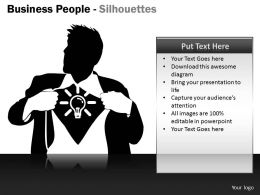 Business People Silhouettes ppt 10