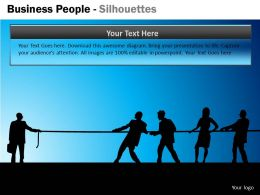 Business People Silhouettes ppt 11