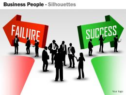Business People Silhouettes ppt 12