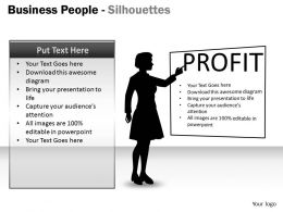 Business People Silhouettes ppt 13