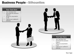 Business People Silhouettes ppt 14