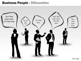 Business People Silhouettes ppt 15