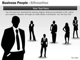 Business People Silhouettes ppt 17