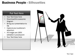Business People Silhouettes ppt 18