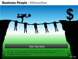 Business People Silhouettes ppt 19