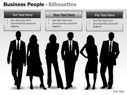 Business People Silhouettes ppt 1