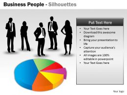 Business People Silhouettes ppt 20