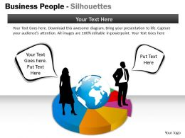 Business People Silhouettes ppt 21
