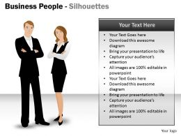 Business People Silhouettes ppt 2