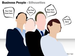 Business People Silhouettes ppt 3