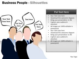 Business People Silhouettes ppt 4
