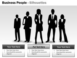 Business People Silhouettes ppt 5