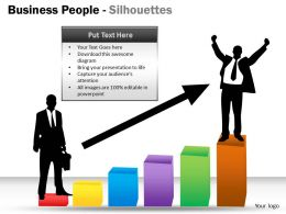 Business People Silhouettes ppt 6