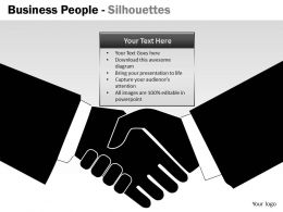 Business People Silhouettes ppt 7