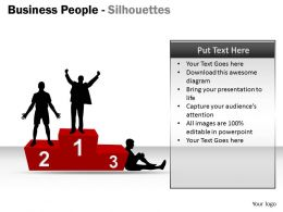 Business People Silhouettes ppt 8