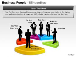 Business People Silhouettes ppt 9