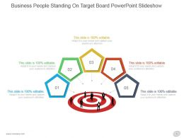 Business People Standing On Target Board Powerpoint Slideshow