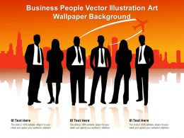 Business People Vector Illustration Art Wallpaper Background