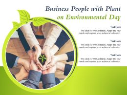 Business People With Plant On Environmental Day