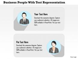 Business People With Text Representation Powerpoint Template