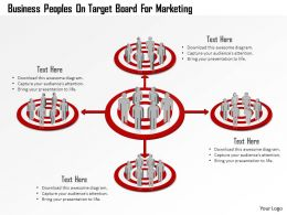 Business Peoples On Target Board For Marketing Powerpoint Template