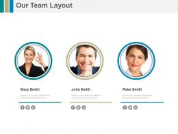 Business Peoples Profile For Team Layout Powerpoint Slide