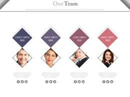 Business Peoples Team For Communication Powerpoint Slides