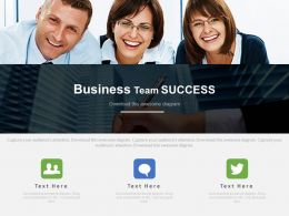 Business Peoples Team For Success In Communication Powerpoint Slides