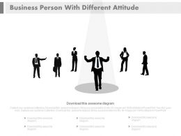 Business Peoples With Different Attitudes Powerpoint Slides