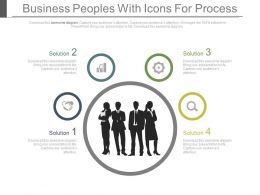 Business Peoples With Icons For Process Powerpoint Slides