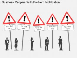 Business Peoples With Problem Notification Flat Powerpoint Desgin