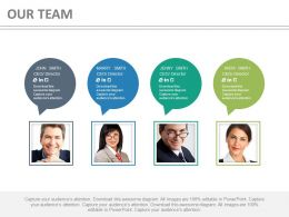 Business Peoples With Speech Bubbles For Communication Powerpoint Slides
