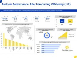 Business Performance After Introducing Offshoring Profit Ppt Powerpoint Presentation File Example