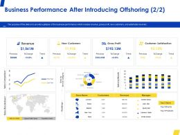Business Performance After Introducing Offshoring Trend Ppt Powerpoint Presentation File Model
