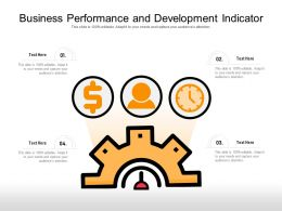 Business Performance And Development Indicator
