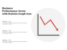 Business Performance Arrow With Statistic Graph Icon