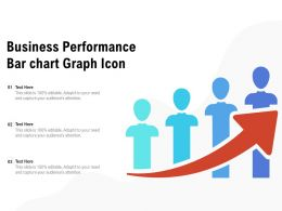 Business Performance Bar Chart Graph Icon