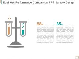 Business Performance Comparison Ppt Sample Design