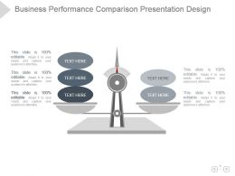 Business Performance Comparison Presentation Design