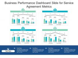 Business Performance Dashboard Slide For Service Agreement Metrics Powerpoint Template