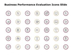 Business Performance Evaluation Icons Slide Arrows Gears D87 Ppt Powerpoint Presentation Gallery Display