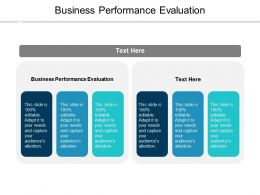 Business Performance Evaluation Ppt Powerpoint Presentation Slides Guide Cpb