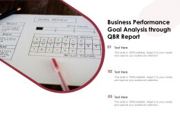 Business Performance Goal Analysis Through QBR Report