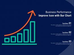 Business Performance Improve Icon With Bar Chart