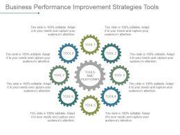 Business Performance Improvement Strategies Tools Powerpoint Guide