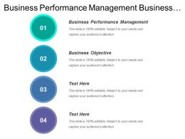 Business Performance Management Business Strategy Business Objective Business Metrics