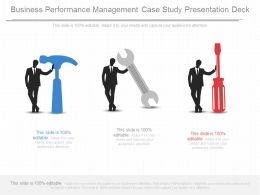 Business Performance Management Case Study Presentation Deck